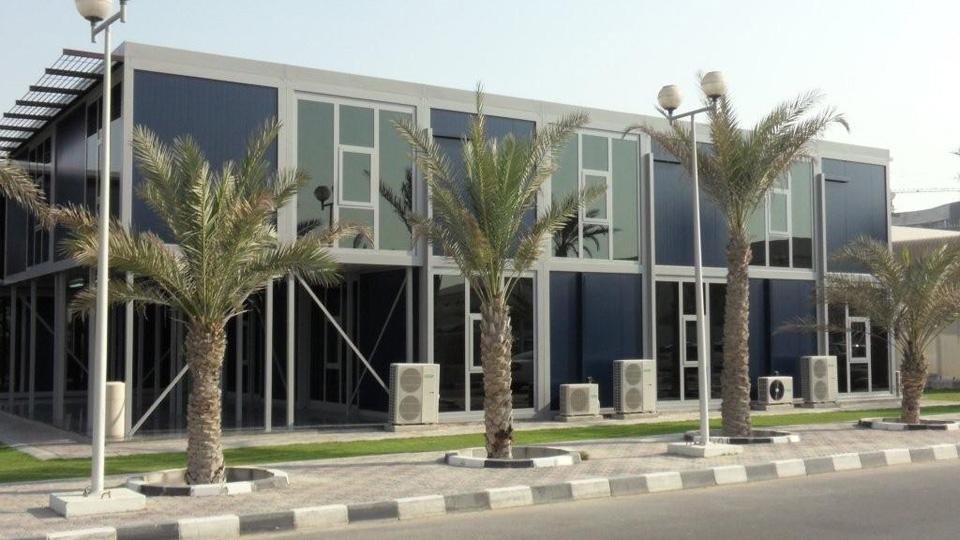 מבנה משרדים בפארק תעשייה